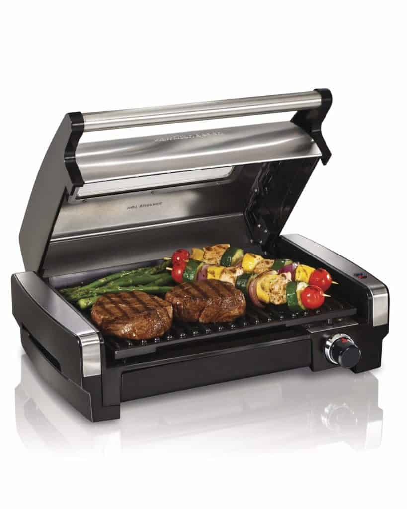 Hamilton Beach's Electric Indoor Grill & Searing Grill with Removable Plates and Viewing Window